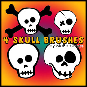 skull brushes gratis para photoshop