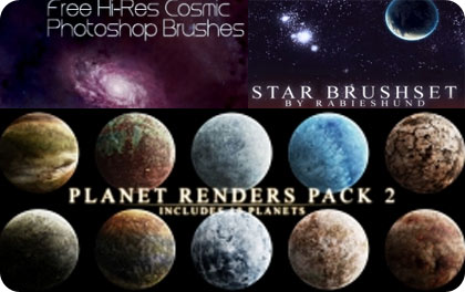 space brushes para photoshop gratis