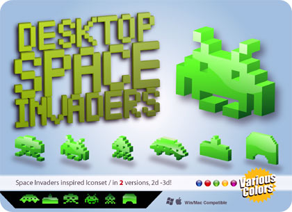 space invaders iconos retro gratis