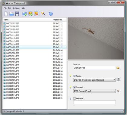 wiseval phtophant, redimensiona, renombra y optimiza imagenes gratis
