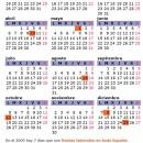 mini calendario 2009 versión para imprimir de 439 pixeles