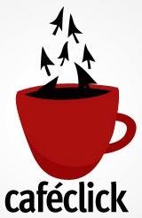 cafe click, logotipo de una cafeteria con internet