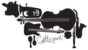 cattleyard, logotipo bizarro de musica y animales