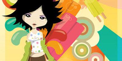 chica vectorial rarezas interesntes en ilustracion digital