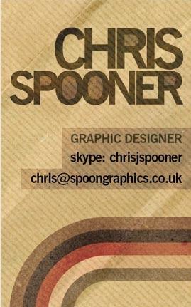 chris spooner, tarjeta de visita, diseno grafico