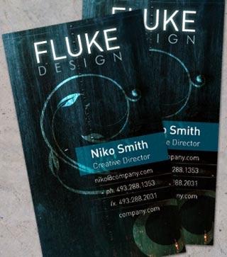 flukev design, tarjetas de visita interesantes