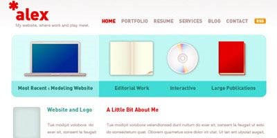 pagina web limpia hecha con adobe illustrator desde cero