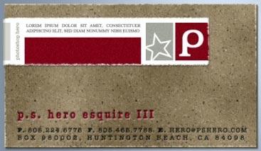 tarjeta de carton, disenada en photoshop