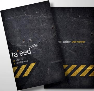 tarjeta de visita echa en photoshop creativa