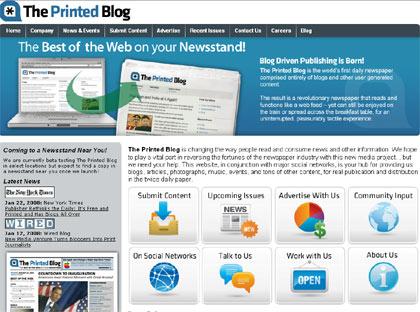 theprintedblog, diario impreso con textos de blogs