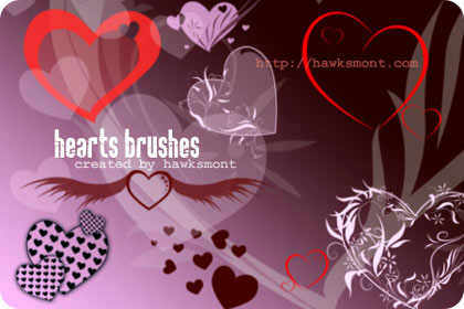 corazones para photoshop con brushes y pinceles