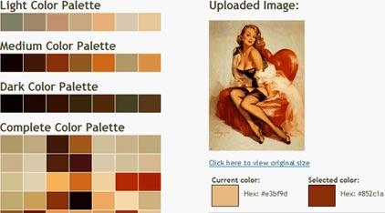 paleta de color por imagen precargada, servicio en linea