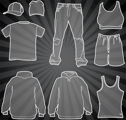 gratis este set de prendas de vestir o ropa en vectores , para ...