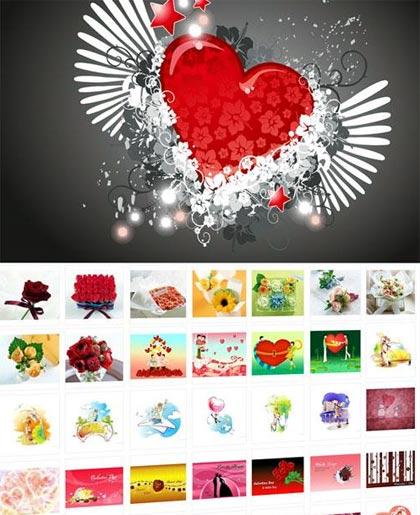 wallpapers de san valentin gratis, coleccion completa en jpg