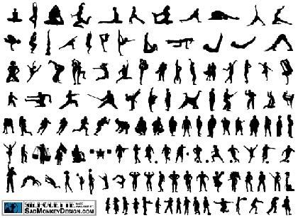 Siluetas vectoriales sobre deporte de libre descarga - Letras para serigrafia ...