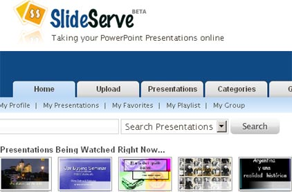 slideserve, presentaciones de power point en linea