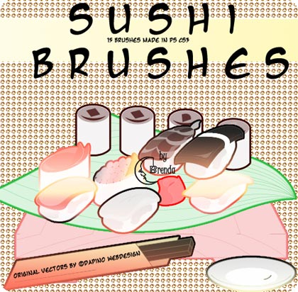 sushi brushes, pinceles para photoshop cs3
