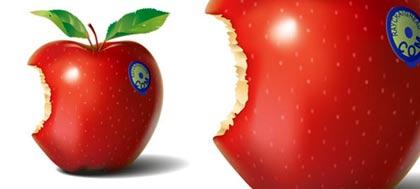 manzana roja en vectores