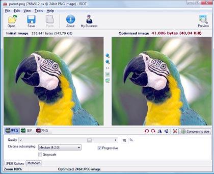 Riot, programa de diseño grafico y optimisador de fotos