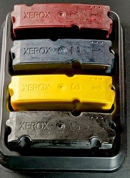 xerox color tinta solida, impresion de cera