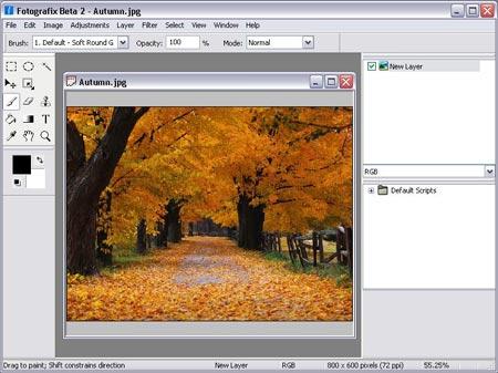 descarga gratis Fotografix para ediciones rapidas