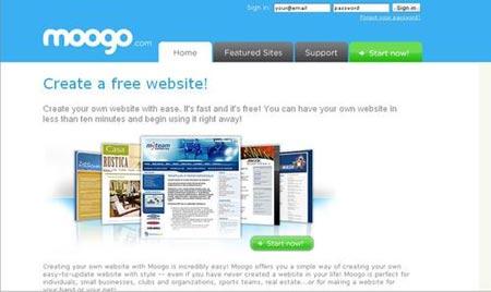 Mogoo es un sitio que te permite crear una web de manera gratuita