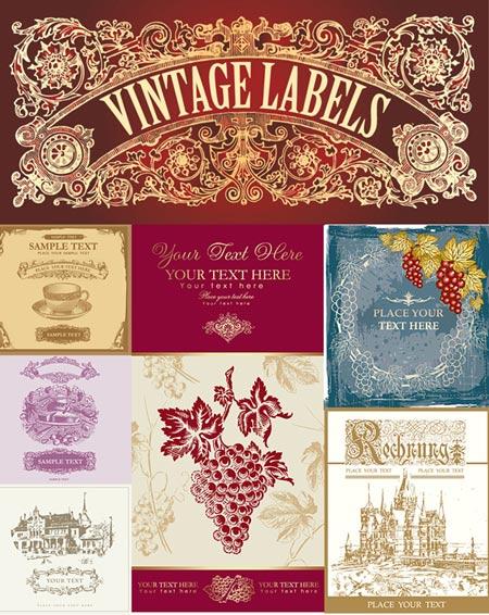 descarga gratis estas ilustraciones vectorizadas estilo vintage