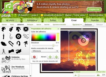 Picnik te permite editar tus fotos desde facebook