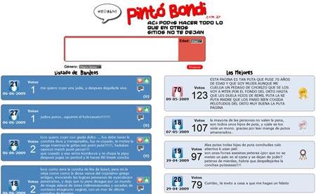 Pinto bondi,  sitio para comentar acecdotas sin censura