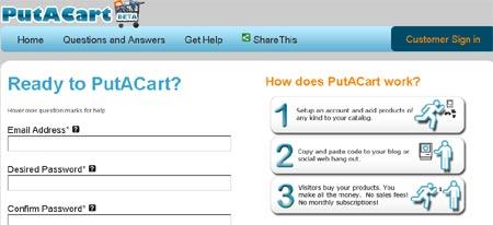 PutAcart te permite crear una tienda virtual personalisada