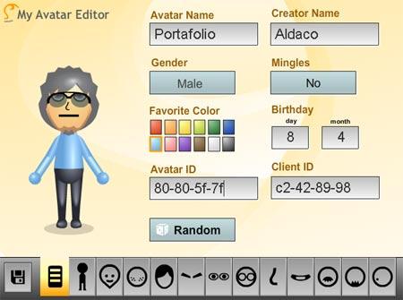 crea avatares de wii gratis