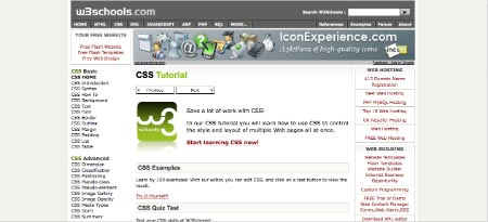 Aprende a programar CSS en W3C Schools