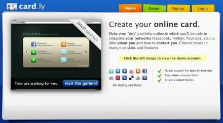 Este sitio te permite crear tus tarjetas de presentacion para tus sitios wen