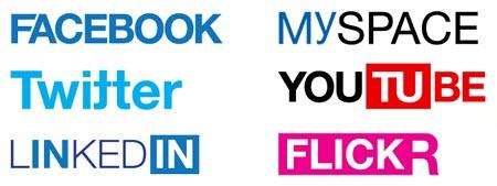 Logotipos de internet en Helvetica
