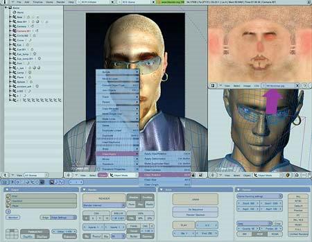 El programa es de animación de imágenes y 3D