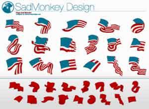 Estas banderas adornaran patrioticamente tus diseños