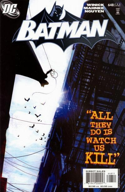 Portada de batman luchando de da