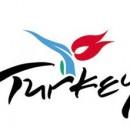 Logo con una flor roja