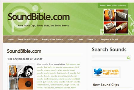 Sitio SoundBible