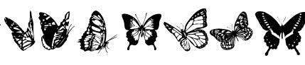 Fuentes en forma de mariposas