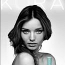 Miranda Kerr modelando en fotos de Kora, publicidad en revistas de moda