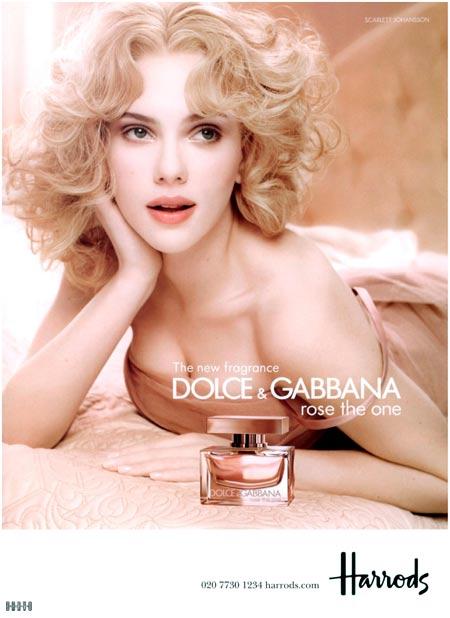 Scarlett Johansson en la publicidad tradicional de Dolce & Gabbana