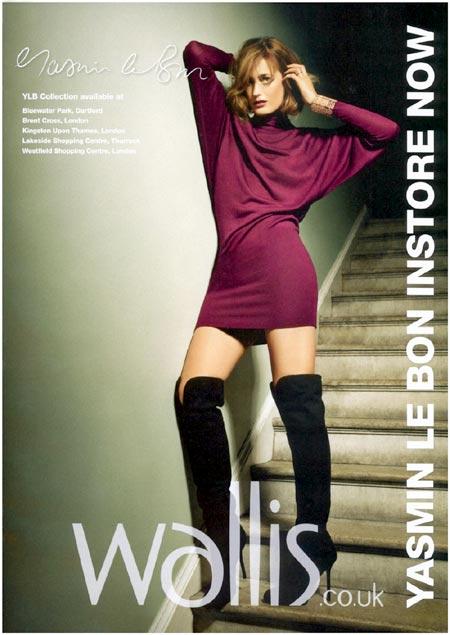 Yasmin Le Bon, modelando para Wallis Y Co, presentando su línea de ropa