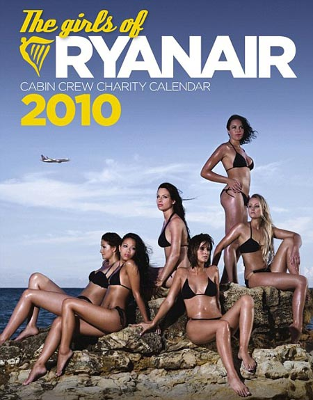calendario ryanair 2010, con azafatas sexys y aeromosas sensuales