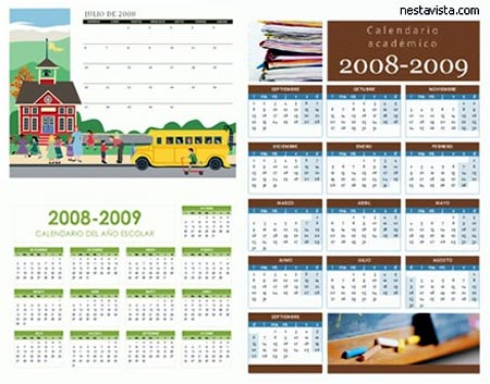 calendario 2010 doble, de hp y de google
