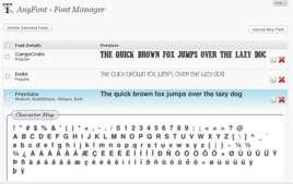 El Font Manager de AnyFont