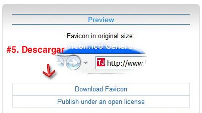 Descargar Favicon en favicon.cc