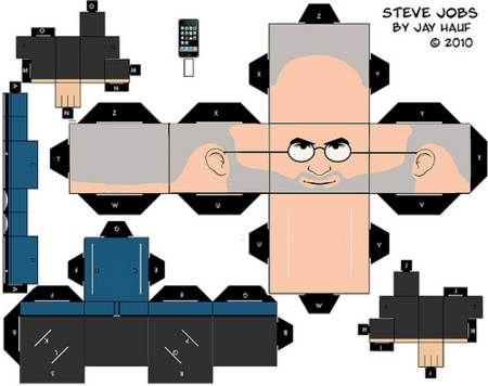 Recortable de Steve Jobs