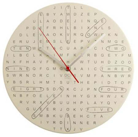 Reloj de pared estilo sopa de letras portafolio blog - Mecanismo para reloj de pared ...