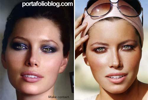 Jessica Biel, dos publicidades para Revlon de productos de belleza